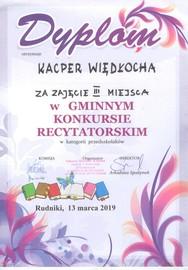 Galeria Gminny Konkurs Recytatorski - 13.03.2019 r.