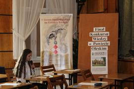 Galeria Finał Konkursu Wiedzy o Powiecie Oleskim w dniu 4 kwietnia 2019 roku