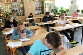 Galeria Próbny egzamin w klasie VII