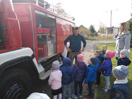 Galeria Spotkanie z zawodowym strażakiem w dniu 16 X 2019 roku