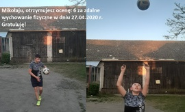 Galeria Ćwiczenia z piłką i ze skakanką - zdalne wychowanie fizyczne w klasie V