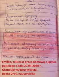 Galeria Wiersze uczniów klas V - VI o Ojczyźnie.