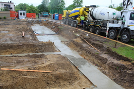 Galeria Zalewanie chudego betonu pod ławy fundamentowe - 22.05.2021 r.