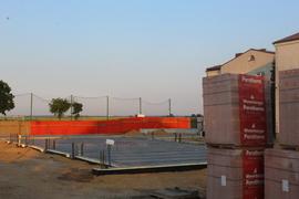 Galeria Wylanie chudego betonu do poziomu 0 sali gimnastycznej w dniu 17 czerwca 2021 roku.
