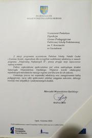 Galeria Certyfikaty i podziękowania