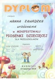 Galeria Minifestiwal Piosenki Dziecięcej w Rudnikach