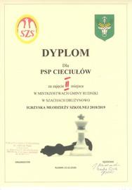 Galeria Dyplomy w I semestrze roku szkolnego 2018/2019
