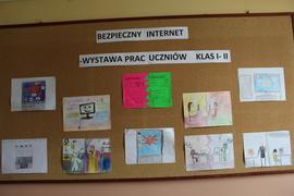 Galeria Bezpieczny Internet- wystawa prac uczniów klasy 1 i 2